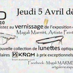 Vernissage de Magali Marmet / Lunettes Krom Eyewear